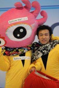 Sina Weibo mascots on a break