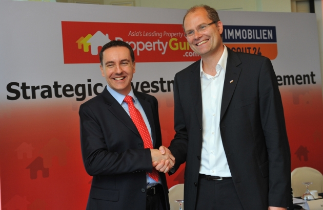 Steve Melhuish CEO and Co-Founder of PropertyGuru with Marc Stilke, CEO of ImmobilienScout24