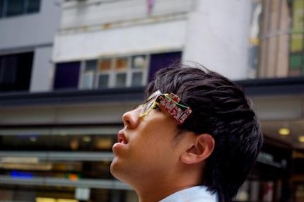 Alan wearing his eye-glasses camera