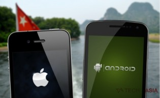 iPhone and Android in China