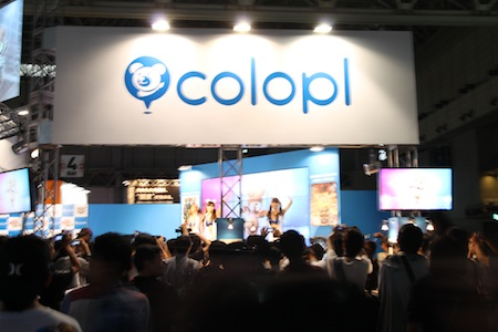 COLOPL booth, Tokyo Game Show 2012