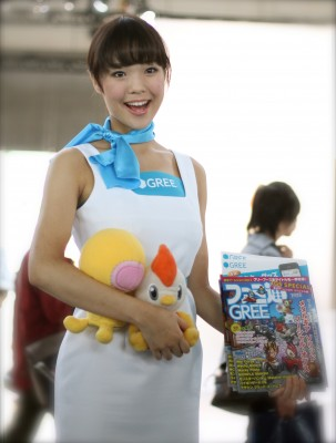 At GREE booth, Tokyo Game Show 2012