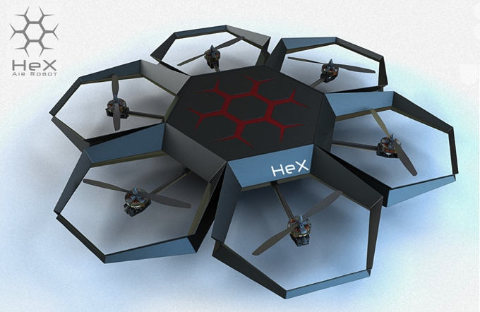 Chinese startup's HeX drone which will launch in 2013
