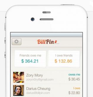 BillPin app