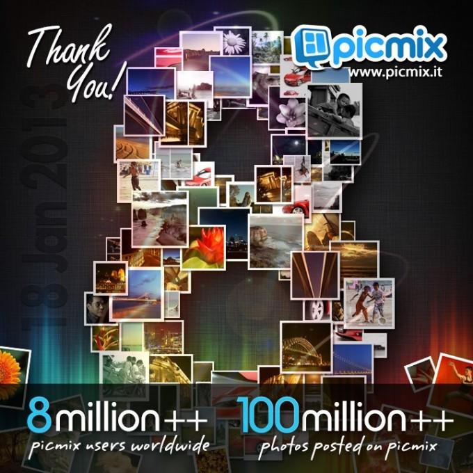 picmix 8 million