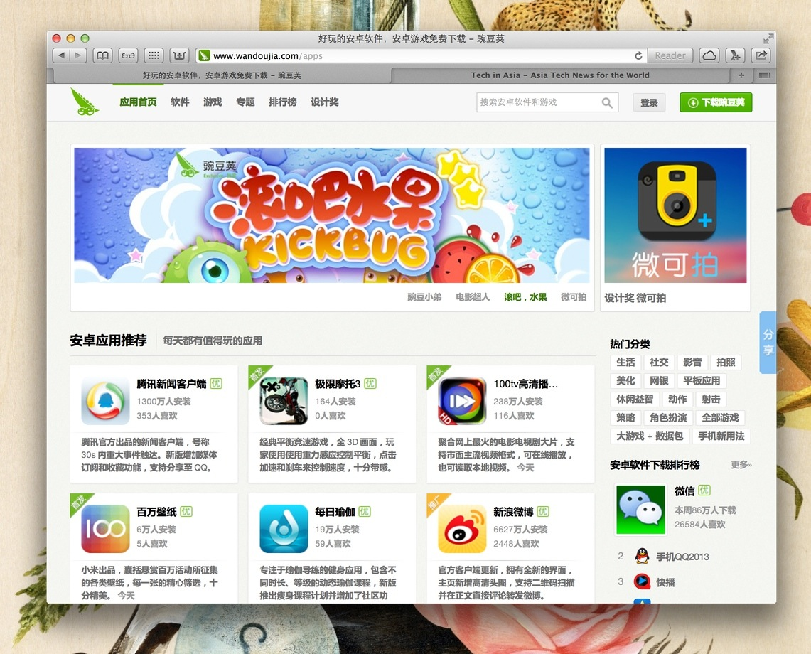 Chinese Android App Store Wandoujia