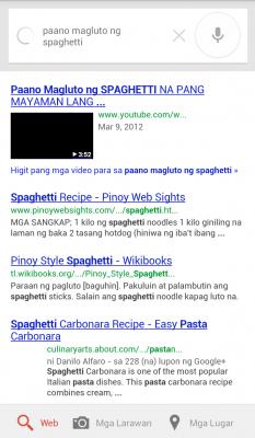Google Voice Search Filipino