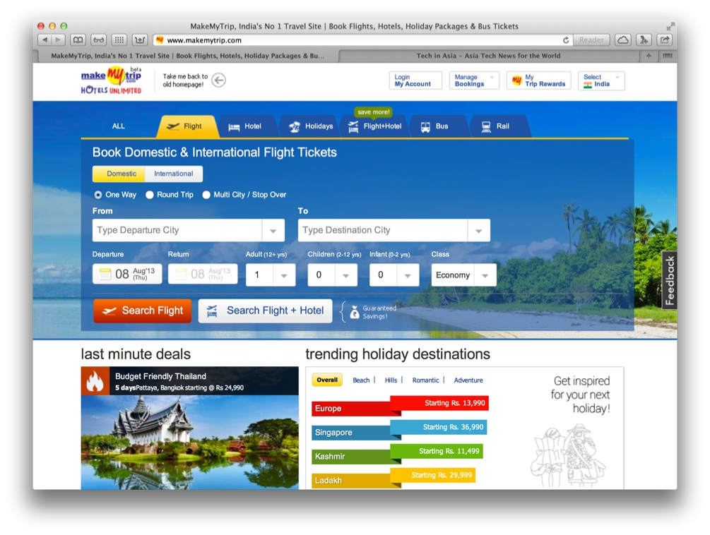 India's MakeMyTrip Books A $9 Million Loss