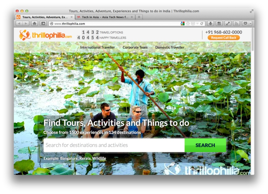 Thrillophilia, adventure tours in India