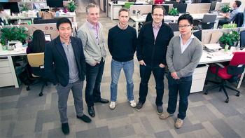 From left to right: Marshall Nu, Nicolas Beraudo, Lylian Kieffer, Bertrand Schmitt, Oliver Lo.