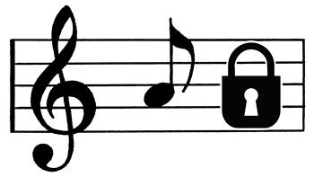 music staff lock