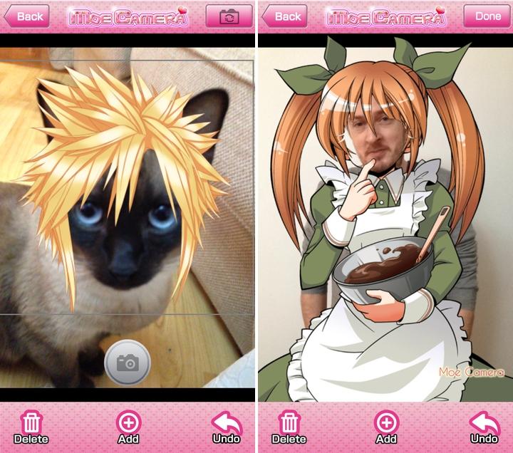 Moe Camera app puts the 'you' into Otaku