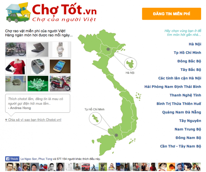 chotot-150-million-visits-month