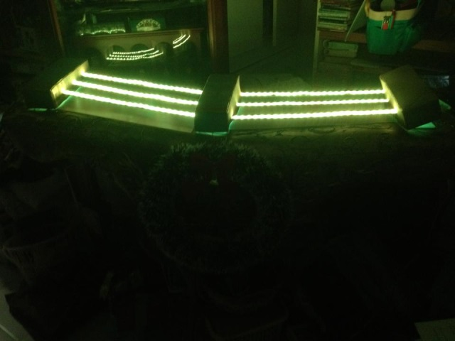 LED strips on the instrument