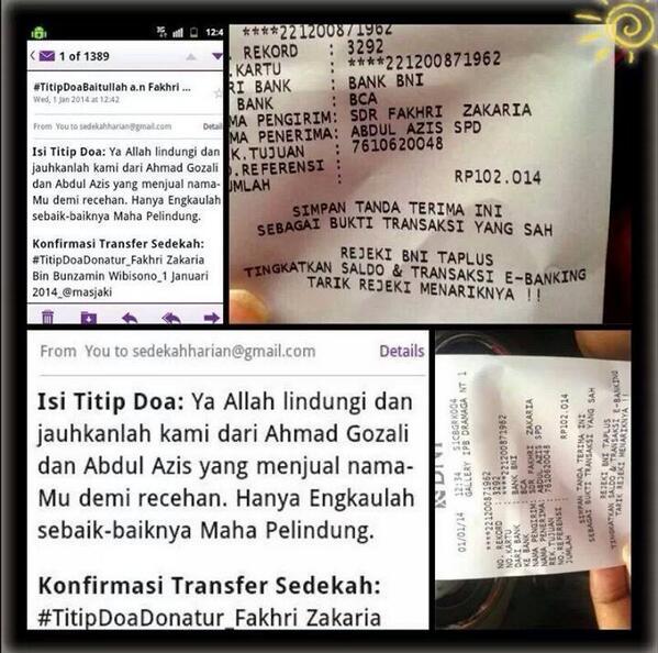 ahmad gozali doa transfer lucu