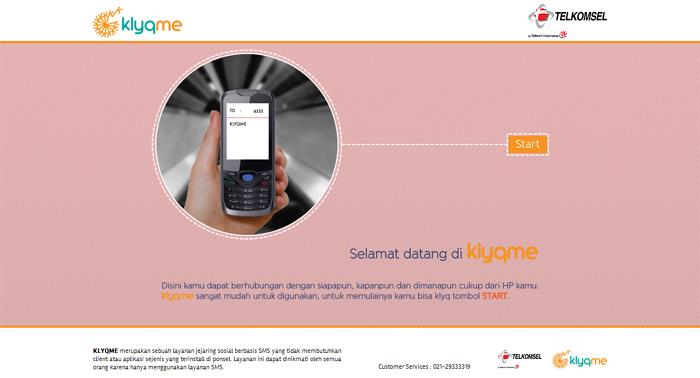 telkomsel klyqme sms social network