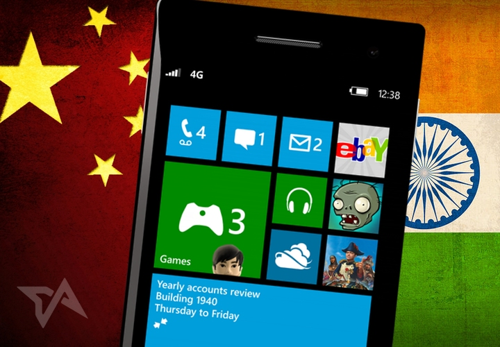 Microsoft pushes Windows Phone in China and India in tie-ups with local phone-makers