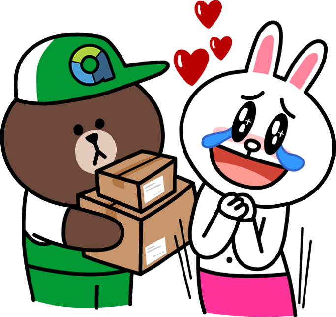 aCommerce Delivery Bear LINE Sticker