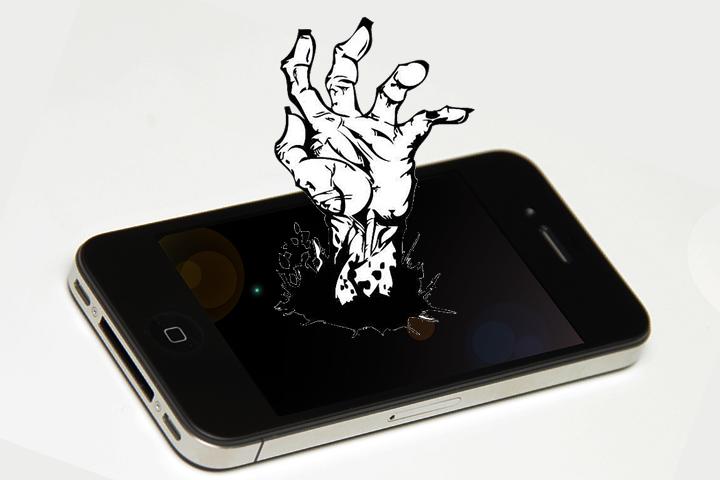 iphone 4 zombie hand