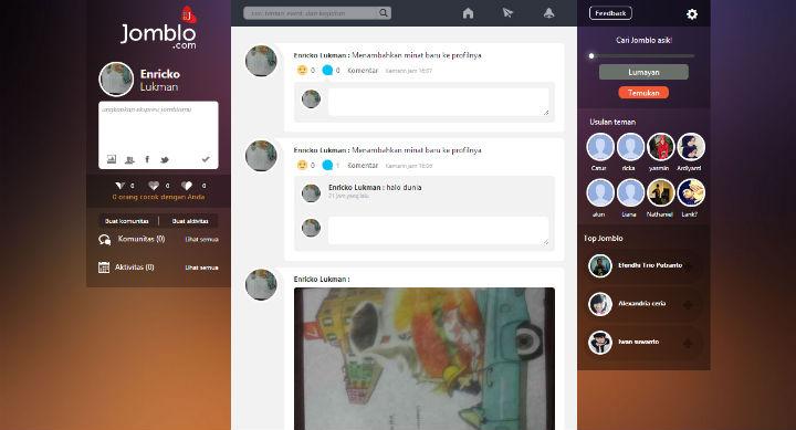 jomblo website dashboard