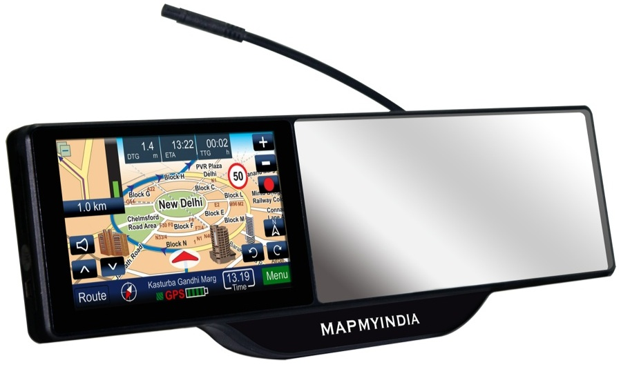 New gadget from MapMyIndia puts your in-car navigation on the rear-view mirror
