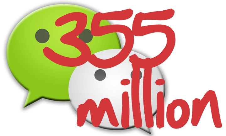 WeChat MAUs hit 355 million
