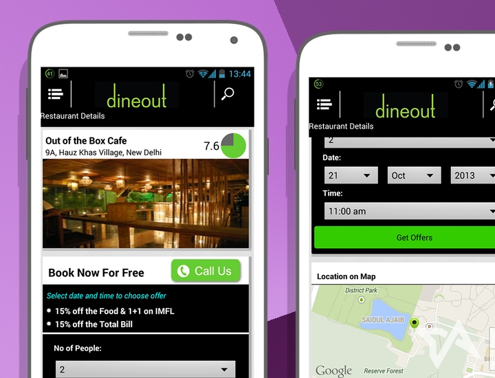 India, Dineout app