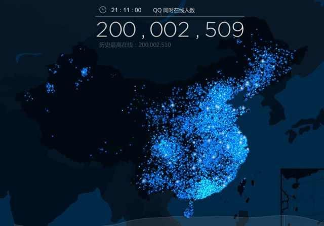 tencent qq 200 million
