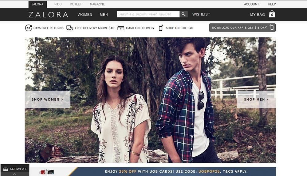 Zalora - 14 popular ecommerce sites in Singapore - October 2015