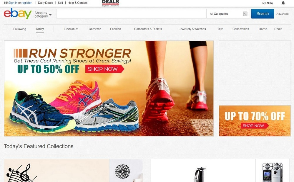 eBay - 14 popular ecommerce sites in Singapore - October 2015