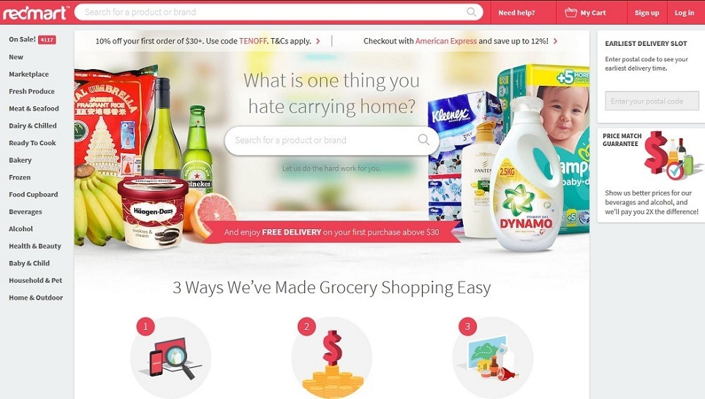Redmart - 14 popular ecommerce sites in Singapore - October 2015