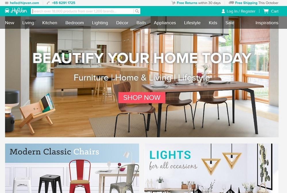 HipVan - 14 popular ecommerce sites in Singapore - October 2015