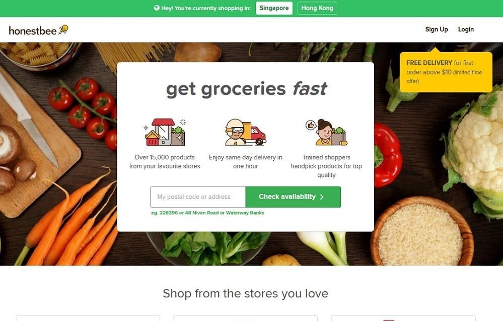 Honestbee - 14 popular ecommerce sites in Singapore - October 2015