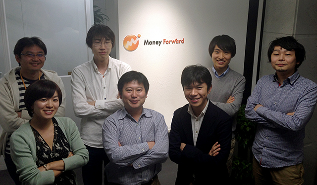 The Money Forward team, with Tsuji front and center.