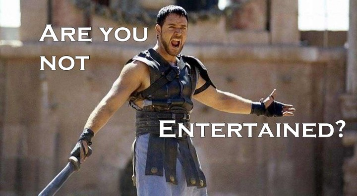 are you not entertained w text