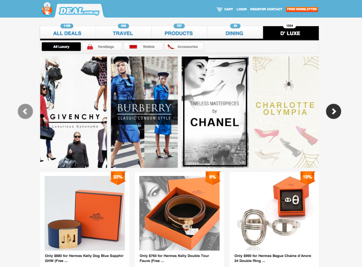 DEAL.com.sg launches luxury products space D'Luxe to bring opulence to the masses
