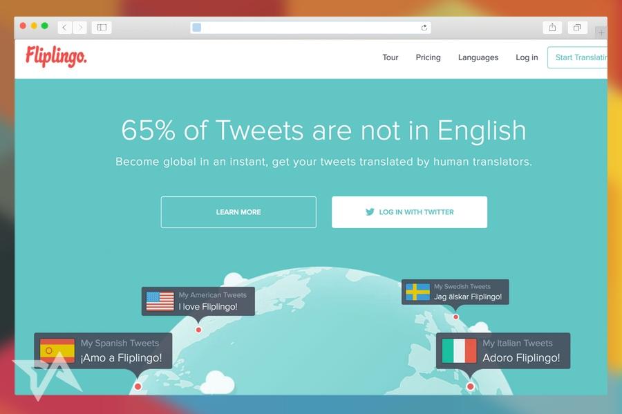 Fliplingo translates tweets