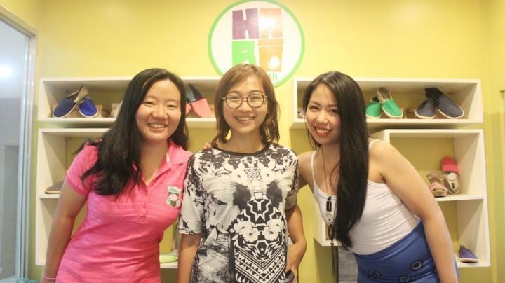 Habi Footwear co-founding team. (L-R) Bernadee Uy, Janine Chiong, and Paola Savillo,