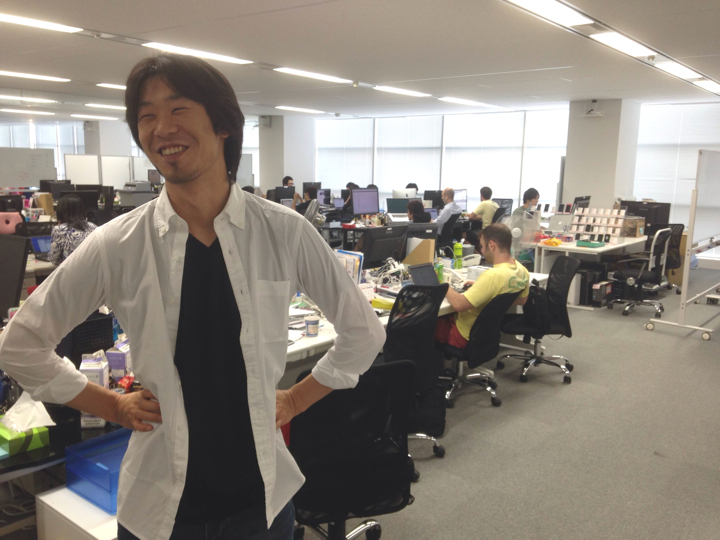 Founder and CEO Katsuaki Sato in the Metaps office.