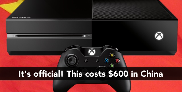 Xbox One will cost $600 in China