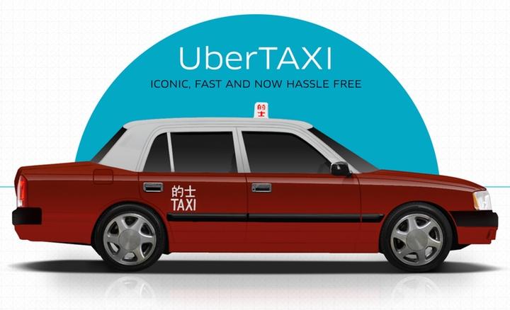 UberTaxi hits the streets of Hong Kong