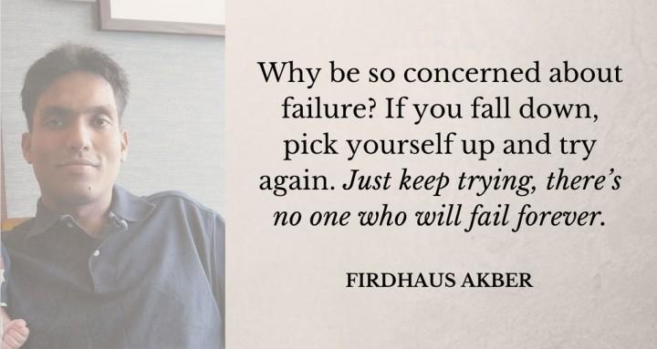 firdhaus akber inspiring quote
