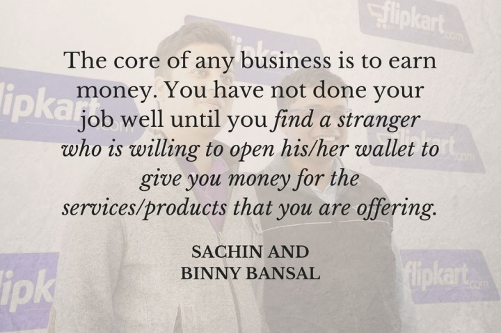 sachin and binny bansal inspiring quotes