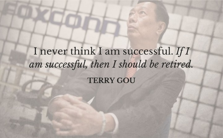 terry gou inspiring quote