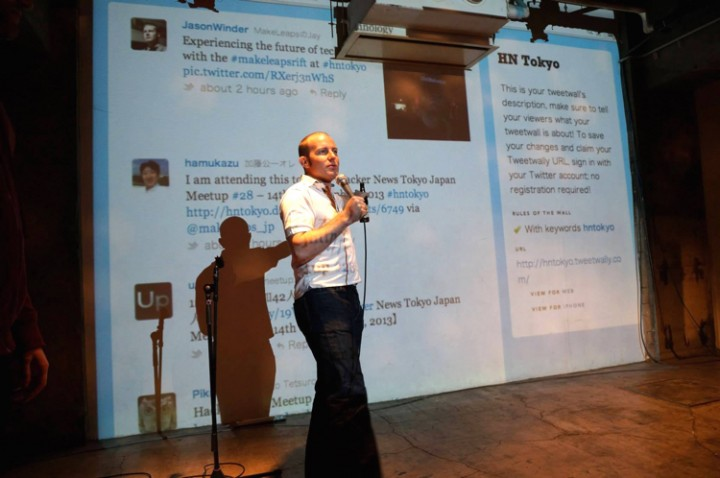 Jay Winder speaker at a HackerNews readers meetup he organizes