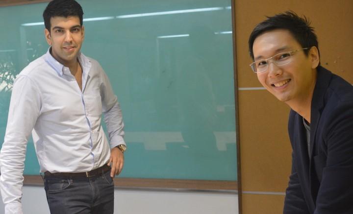 mClinica CEO Farouk Meralli with Medix founder Marc Medina