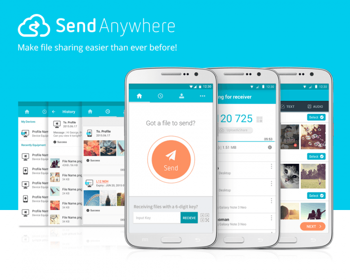 Send Anywhere allows super-fast file transfers by bypassing the cloud.