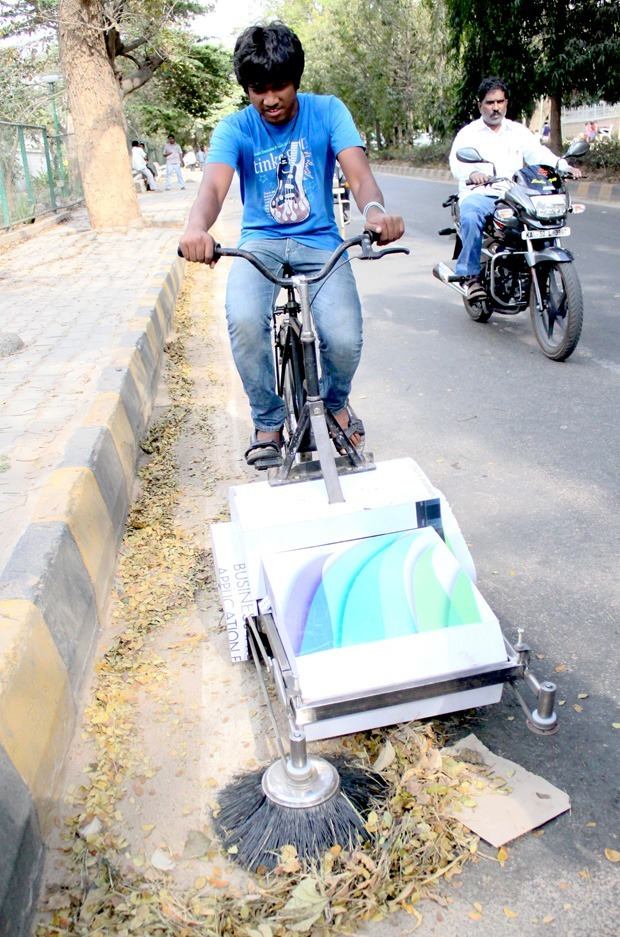 Bicycle road cleaner further developed at GRIDS