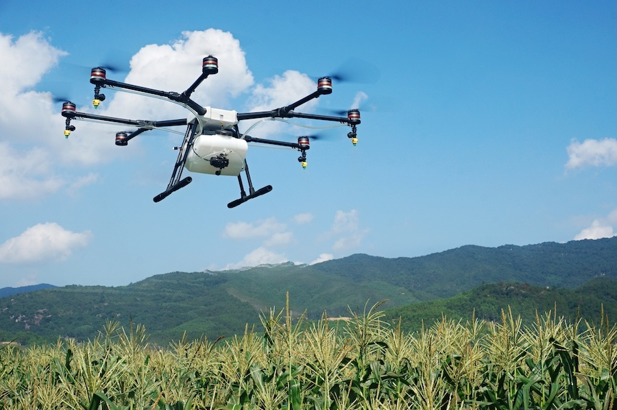 China's DJI launches a crop spraying drone for farmers