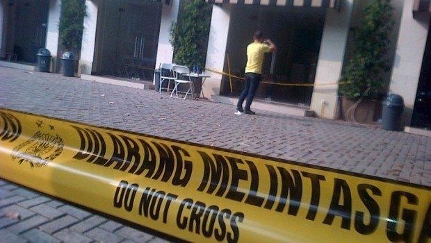 Photo of the scene of the shooting, taken from Beritasatu.com